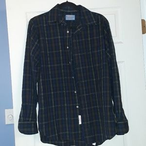 Vintage Pendleton Wool Smith Plaid Navy M